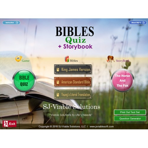 BIBLES - QUIZ + STORYBOOK, BQP5, SJ Viable Solutions